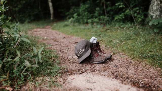 hiking shoes, shoes, cap, travel