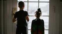 Barn hemma semester foton resor