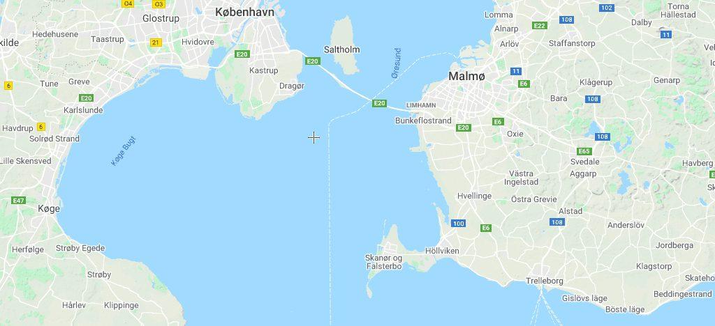 Skanør - Sverige - Skanör - Falsterbo - Øresund - kort - rejser