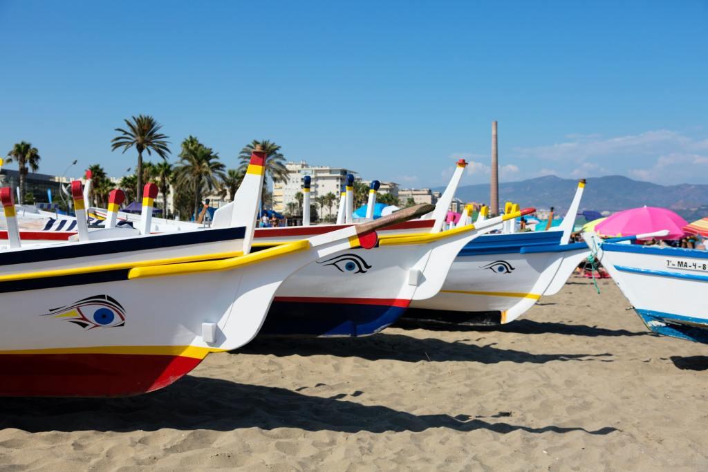 Malaga - beach - Spain - boats