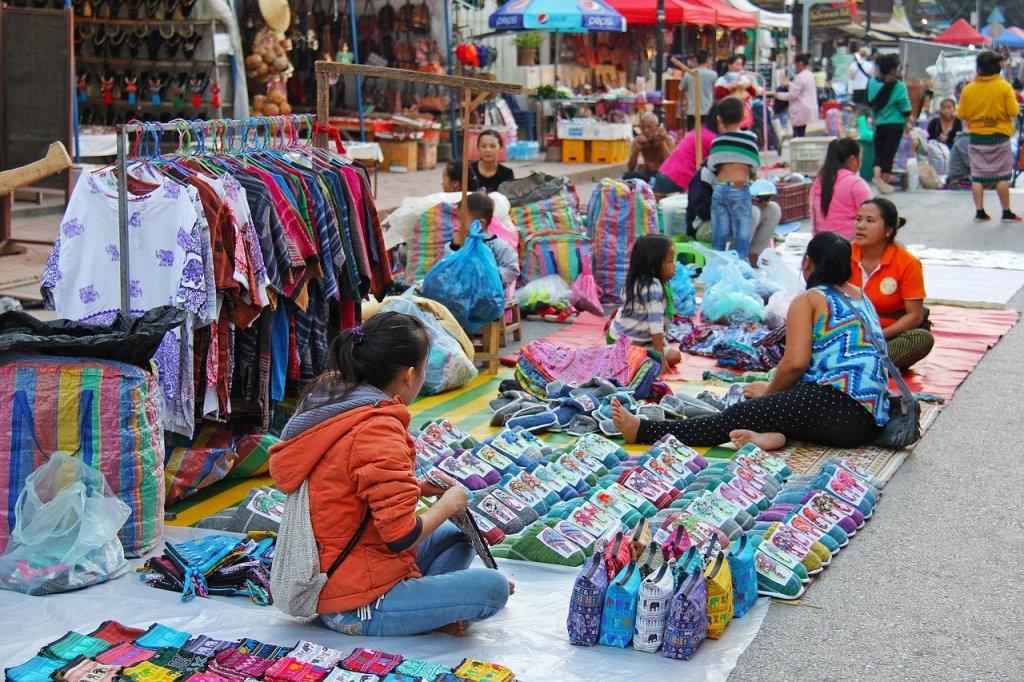 Laos - marked - rejser