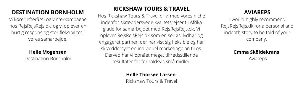 Mga Patotoo - Destination Bornholm - Rickshaw Tours & Travel - Aviareps