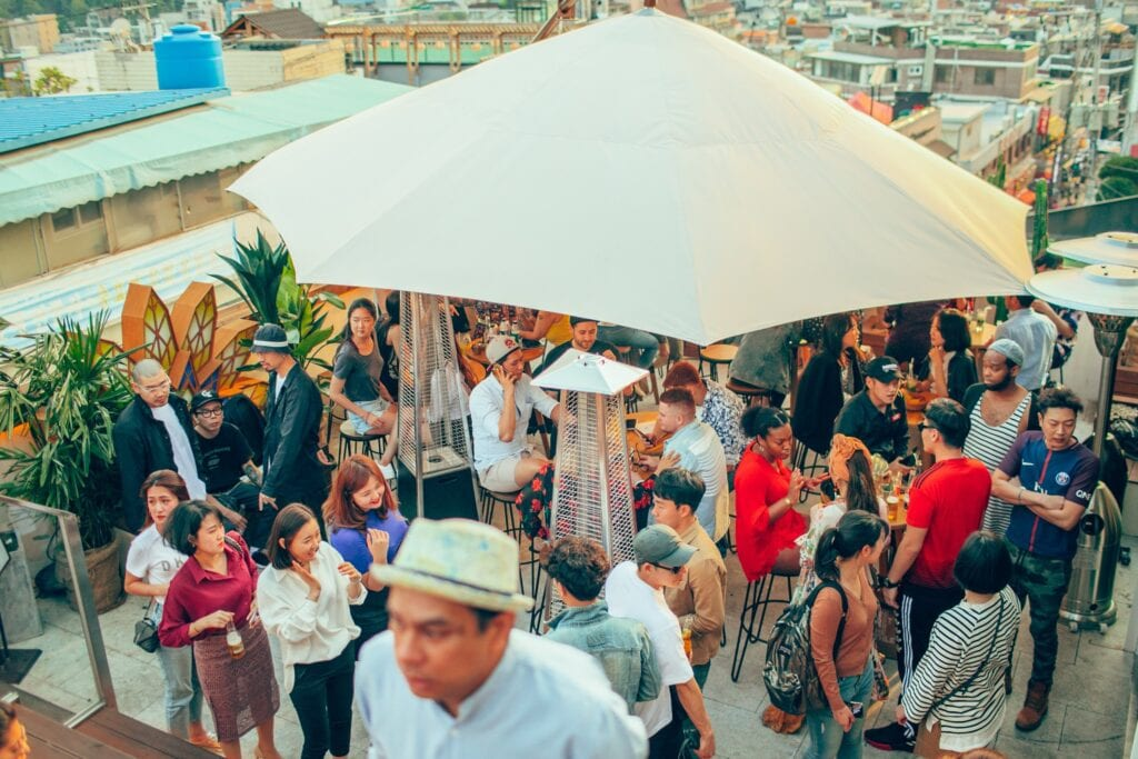 Rooftop party - Seoul - rejser