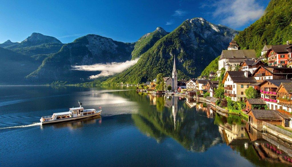 Lac - bateau - Hallstatt - Autriche - voyage - Autriche en voiture, vacances autonomes en Autriche