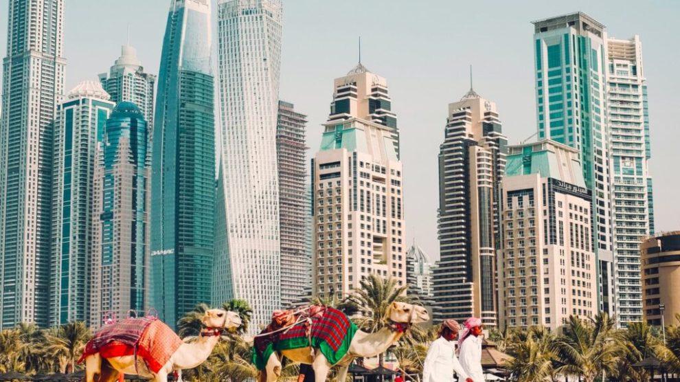 Dubai, Verenigde Arabische Emiraten, skyline