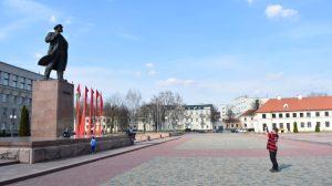 Bjelorusija - Grodno, Lenjin, kip - putovanje