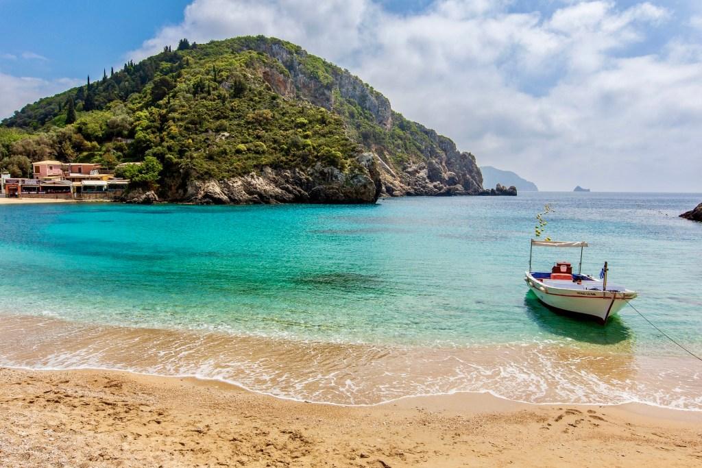 Korfu, Korfu strand, rejser, Grækenland, Græske øer, græsk ø, græsk ferieø, natur