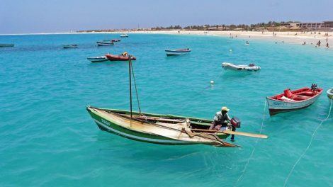 Cape Verde - fishermen, boats, beach - travel