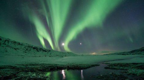 איסלנד, תורסמארק, אורות צפוניים, ללא פלאש, נסיעה