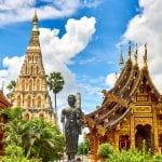 タイ、記念碑、寺院、旅行、アジア
