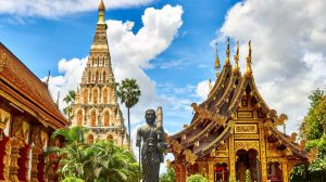 Thailand, monument, tempel, rejser, asien
