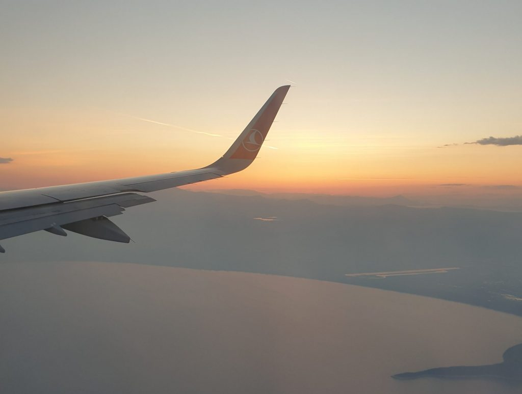 Turikish Airlines, Fly, flyvinge, solnedgang, rejser