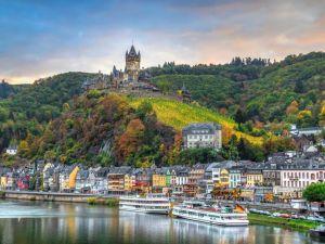 Moselle, Rajna, Njemačka, Francuska, rijeka, dvorac, grad, putovanja, riječno krstarenje,