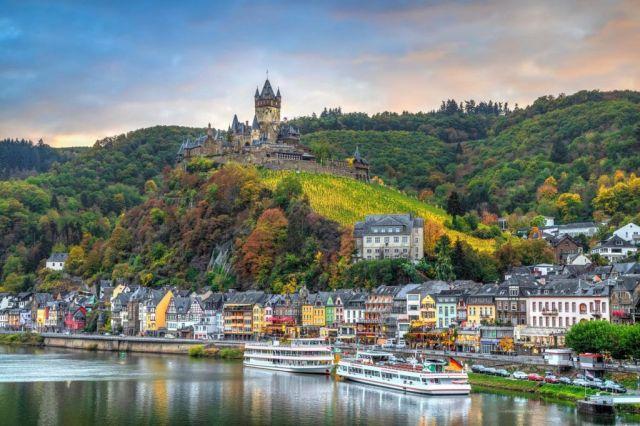 Mosel, Rhinen, Tyskland, Frankrike, elv, slott, by, reise, elvecruise,