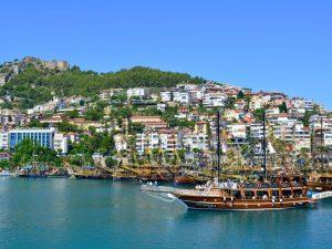 Turska, Alanya, more, brod, dvorac, putovanja