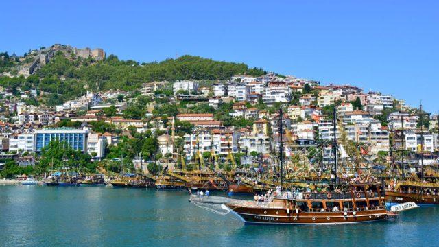 Turchia, Alanya, mare, nave, castello, viaggi