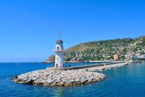 Tyrkiet, Alanya, fyrtårn, hav, rejser