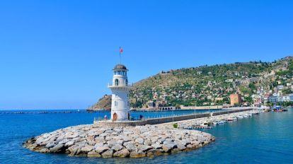 Tyrkia, Alanya, fyr, sjø, reise