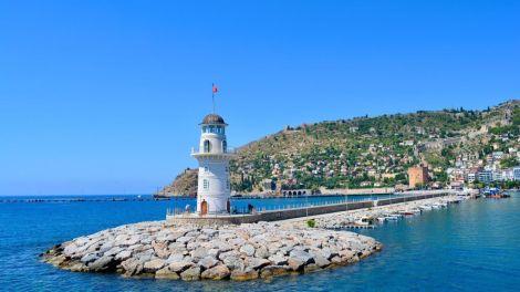 Turkey, Alanya, lighthouse, sea, travel