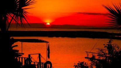 Turska, Side, more, palme, putovanja, zalazak sunca, putovanja
