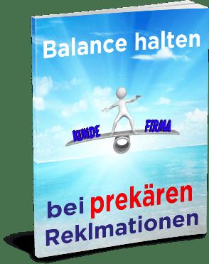EBook-Cover Balance halten bei prekären Reklamationen