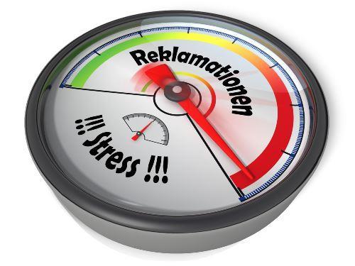 Alarmsignal stark nervende Kunden bei Reklamationen