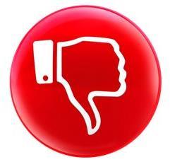 Daumen runter - Warnung Kunden reklamieren nicht