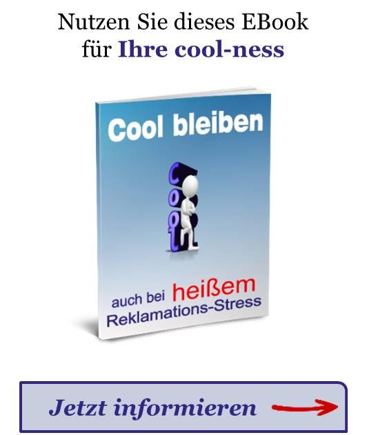Der Hinweis zum EBook Cool bleiben zum Abrufen von mehr Informationen.