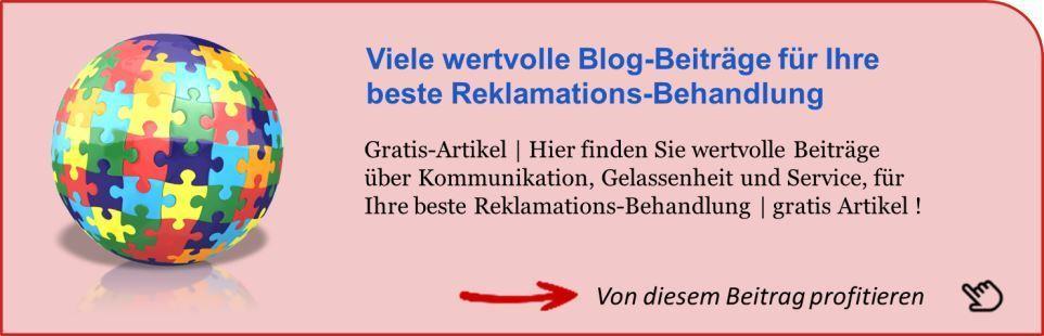 Reklamations Behandlung zum Beitrag - Kundentreuecoach