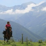 randonnée équestre en montagne