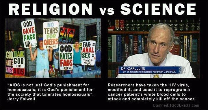 Image result for religion vs science meme
