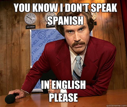 Image result for spanish english meme
