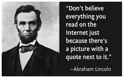 Image result for quotes lincoln internet