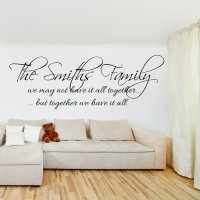 FAMILY QUOTES WALL ART STICKERS image quotes at relatably.com