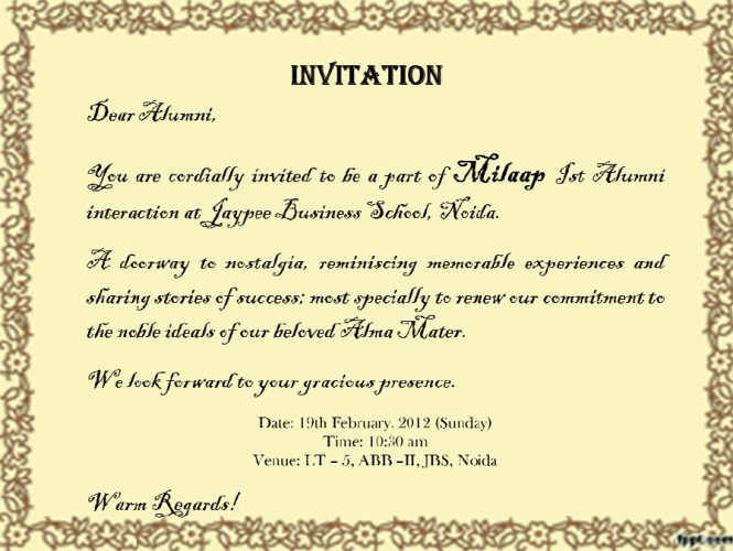 Teachers Invitation Quotes Premium Invitation Template Design