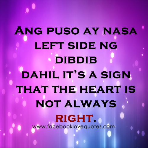 Funny Quotes About Love Tagalog
