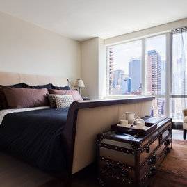 See The City Lights From Your Bed With Floor To Ceiling Windows In