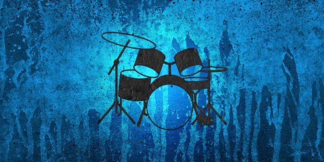 Portfolio - Drum Set - blue