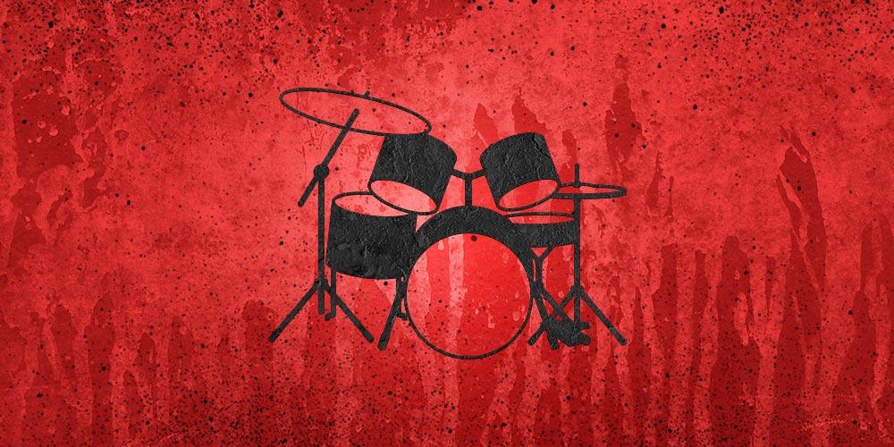 Portfolio - Drum Set - red