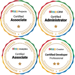 zoho certifications badges belonging to Relativity, Gordon Mankelow