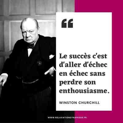 Le succès c'est d'aller d'échec en échec sans perdre son enthousiasme. Winston Churchill
