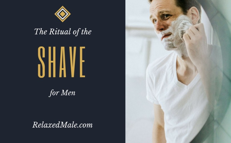 Relaxed Males ritual of shaving