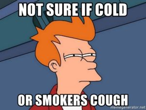 not sure if cold or smokers cough 300x225 Quit smoking