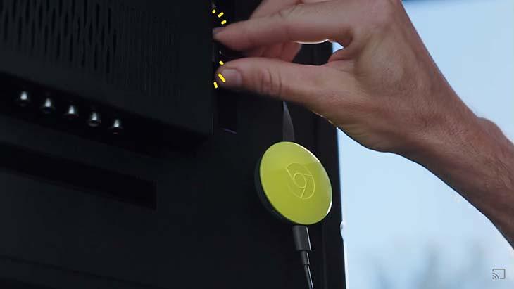 Google Chromecast 2 SMART TV amarillo  yaesta