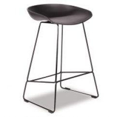 Kitchen Stool Small Island With Storage Stools Practical Modern Melbourne Kobe Black Sled Base Frame And Shell Seat