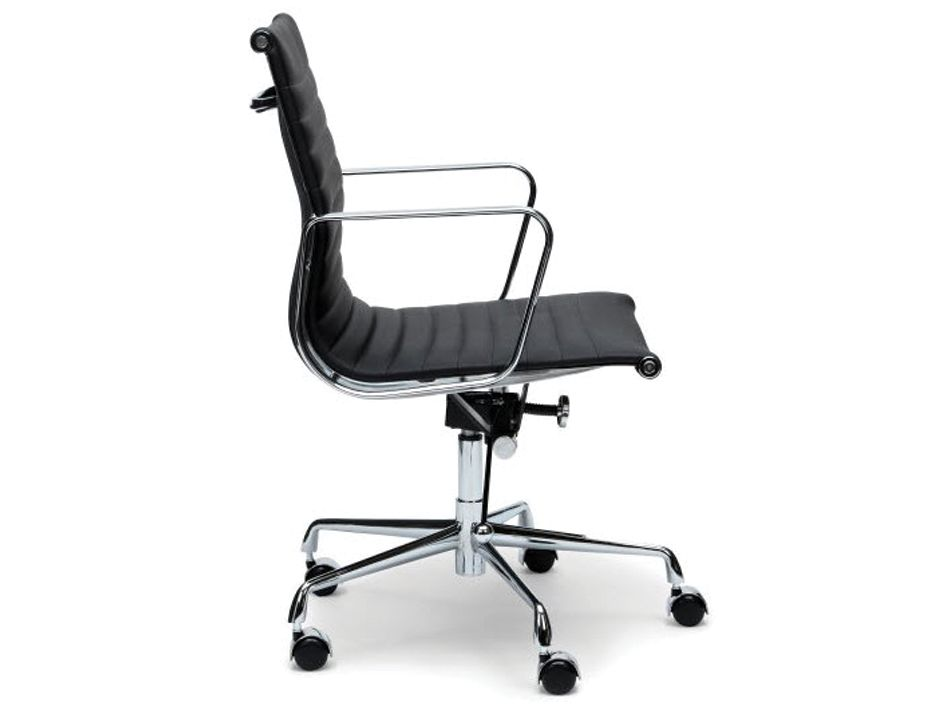 eames management chair replica rectangular leg caps office black leather oaadsf iconic soft