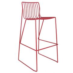 Stackable Restaurant Chairs Movie Theatre For Home Red Modern Wire Counter Stool - Indoor/outdoor Metal Barstool