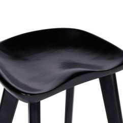 Black Bar Stool Chairs Room And Board Dining Saddle Backless Counter Barstools