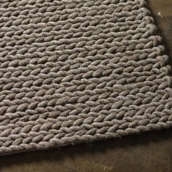 Kitchen Tables & More Traditional Furniture Rope Weave Nz Wool Rug Taupe