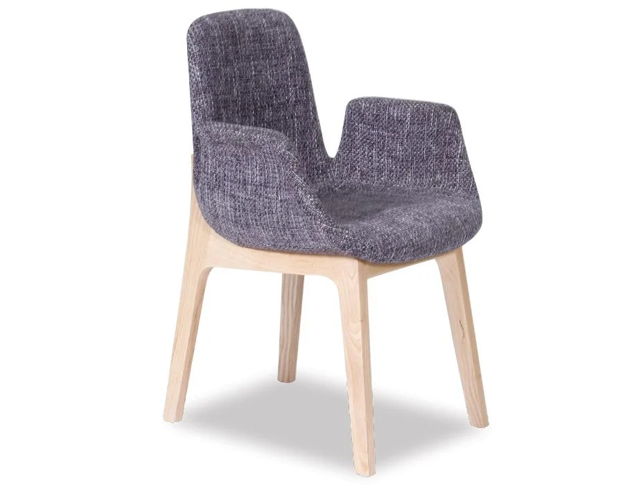 dining chair with armrest pine kitchen chairs for sale ara arm light grey tweed